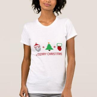 Santa + Tree + Stocking = Merry Christmas T-shirt