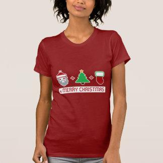 Santa + Tree + Stocking = Merry Christmas T Shirt