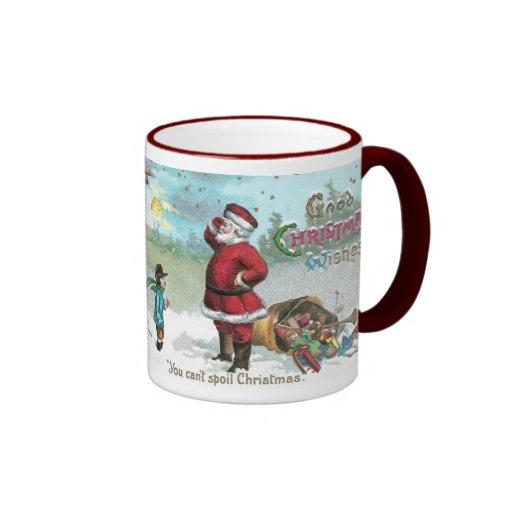 Santa trenzó en la nieve taza de dos colores