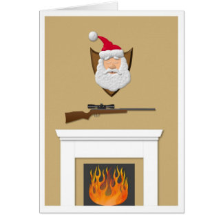 Santa Trophy Greeting Card