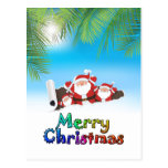Santa tropical postales