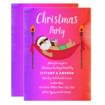 Santa Tropical Summer Christmas Party Invite