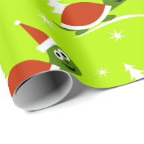 Santa Turtle Christmas Wrapping Paper