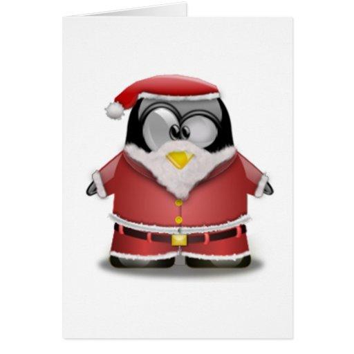 Santa Tux Card