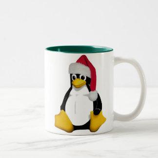 Santa Tux Coffee Mugs