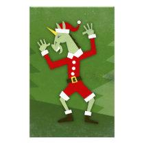 Santa Unicorn In the House Stationery