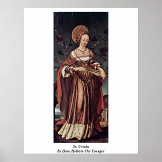 Santa Ursula de Hans Holbein el más joven Poster