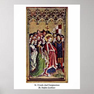 Santa Ursula y compañeros de Stefan Lochner Poster