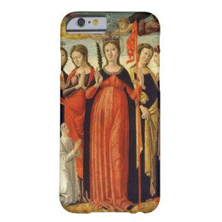 Santa Ursula y cuatro santos (tempera en el panel) Funda Para iPhone 6 Barely There