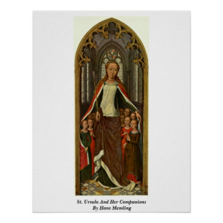 Santa Ursula y sus compañeros de Hans Memling Posters