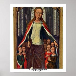 Santa Ursula y sus compañeros de Memling Hans Impresiones