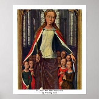 Santa Ursula y sus compañeros de Memling Hans Posters