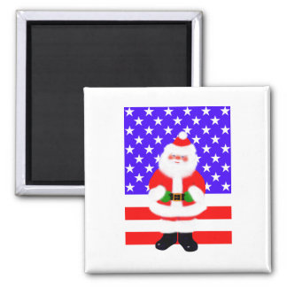 Santa USA 2 Inch Square Magnet