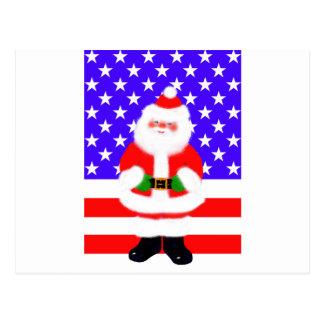 Santa USA Postcard