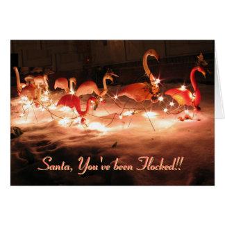 ¡Santa, usted se ha reunido!! Tarjeta De Felicitación