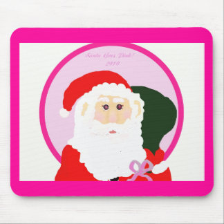 ¡Santa va rosa! Alfombrillas De Ratón