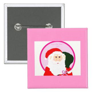 ¡Santa va rosa! Pin