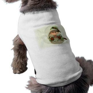 Santa verde playera sin mangas para perro