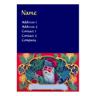 SANTA VINTAGE blue Business Cards