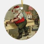 santa vintage christmas ornament