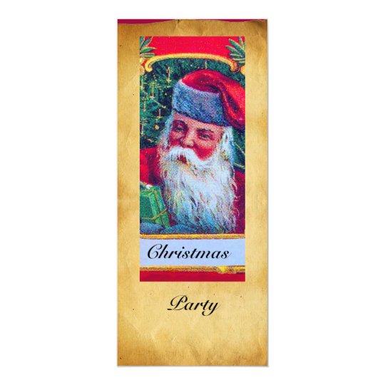 SANTA VINTAGE CHRISTMAS PARTY 1 CARD