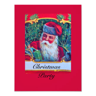 SANTA VINTAGE CHRISTMAS PARTY 1 CARD