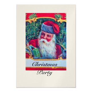 SANTA VINTAGE CHRISTMAS PARTY 1 champagne Card
