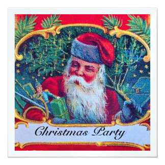 SANTA VINTAGE CHRISTMAS PARTY ice Card