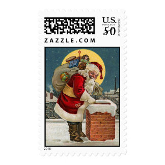 Santa Vintage Christmas Stamps