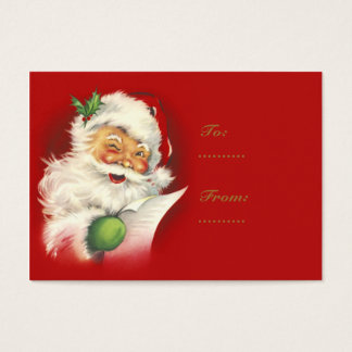 Santa Vintage Gift Tags