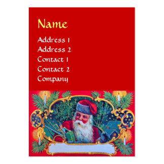 SANTA VINTAGE red Business Cards