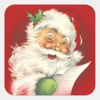 Santa Vintage square Sticker