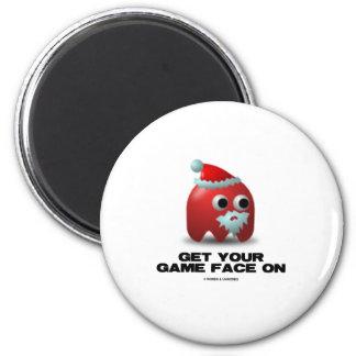 Santa (Virtual Game Face) Fridge Magnet
