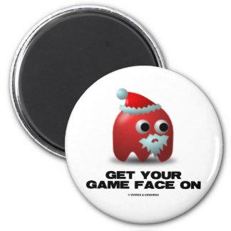 Santa (Virtual Game Face) Refrigerator Magnets