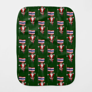 Santa Visiting Thailand Burp Cloth