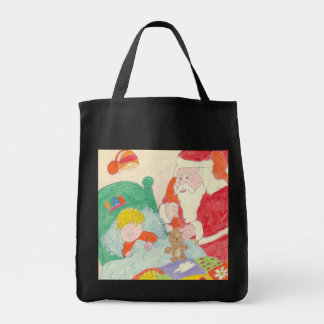 Santa Visits Totebag Tote Bag