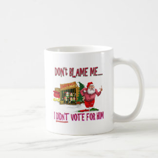 Santa w/Elves for Rent/Political Joke Classic White Coffee Mug
