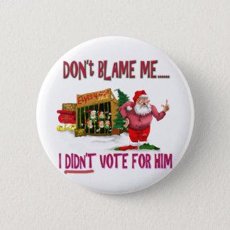 Santa w/Elves for Rent/Political Joke Pinback Button