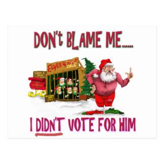 Santa w Elves para el alquiler el chiste político Postal