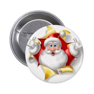 santa wall-paper pinback buttons