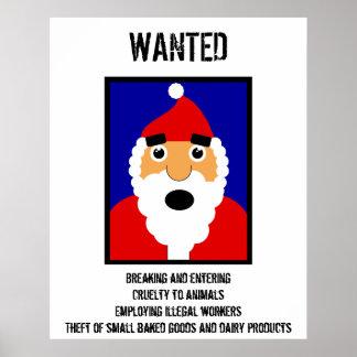 Santa Wanted Poster