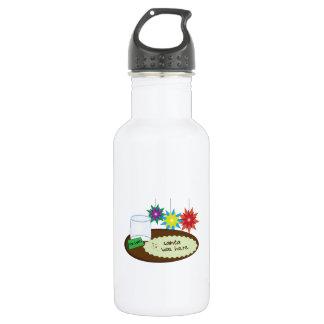 Santa Was Here 18oz Water Bottle
