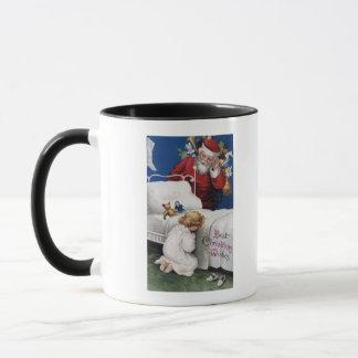 Santa watching Girl Praying Mug