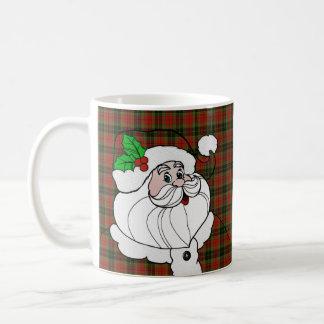 Santa Wears Christmas Plaid Coffee Mug