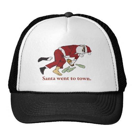 santa_went_to_town gorras