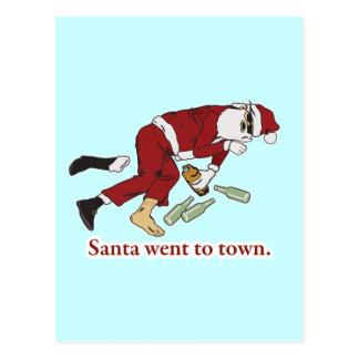 santa_went_to_town postcard