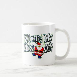 Santa Where my Ho's at.png Classic White Coffee Mug
