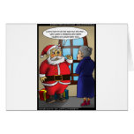 Santa & Wiki Leaks Funny Gifts Tees & Cards Cards