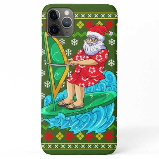 Santa Wind Surf Mele Kalikimaka iPhone 11 Pro Max Case