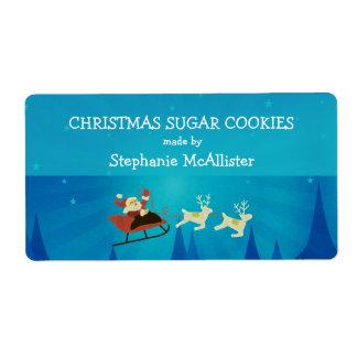 Santa Winter Scene Holiday Baking Labels